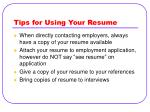 tips for using your resume37
