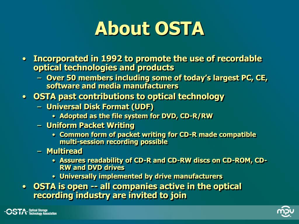 About OSTA
