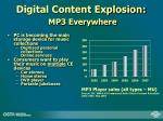digital content explosion mp3 everywhere