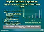 digital content explosion optical storage transition from cd to dvd