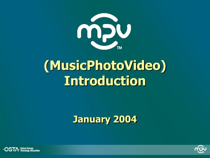 Musicphotovideo introduction