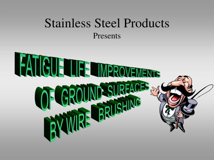 stainless steel products presents n.