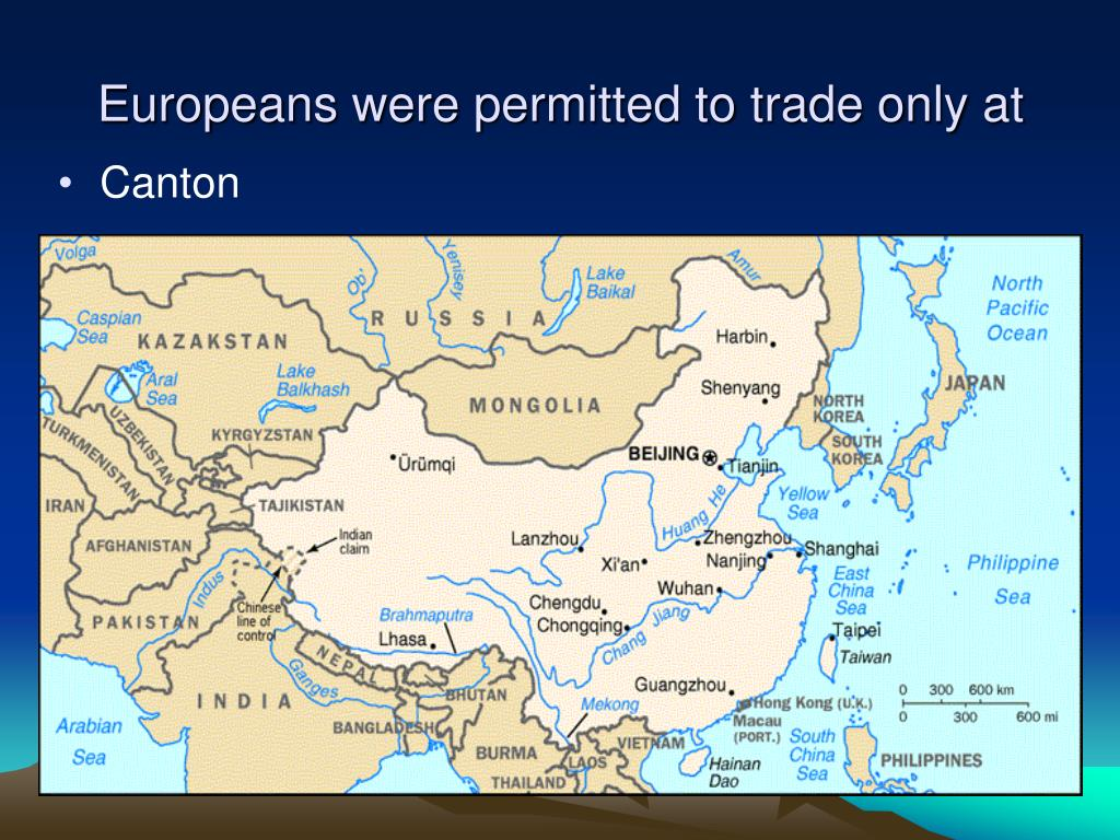 Europeans were permitted to trade only at