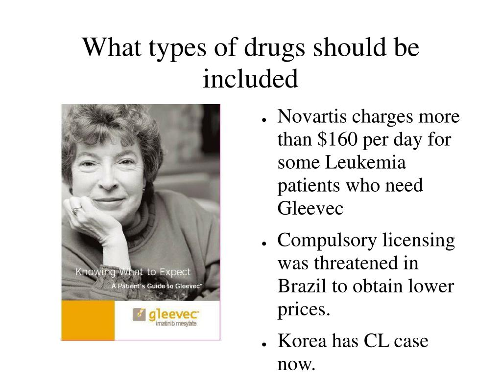 What types of drugs should be included