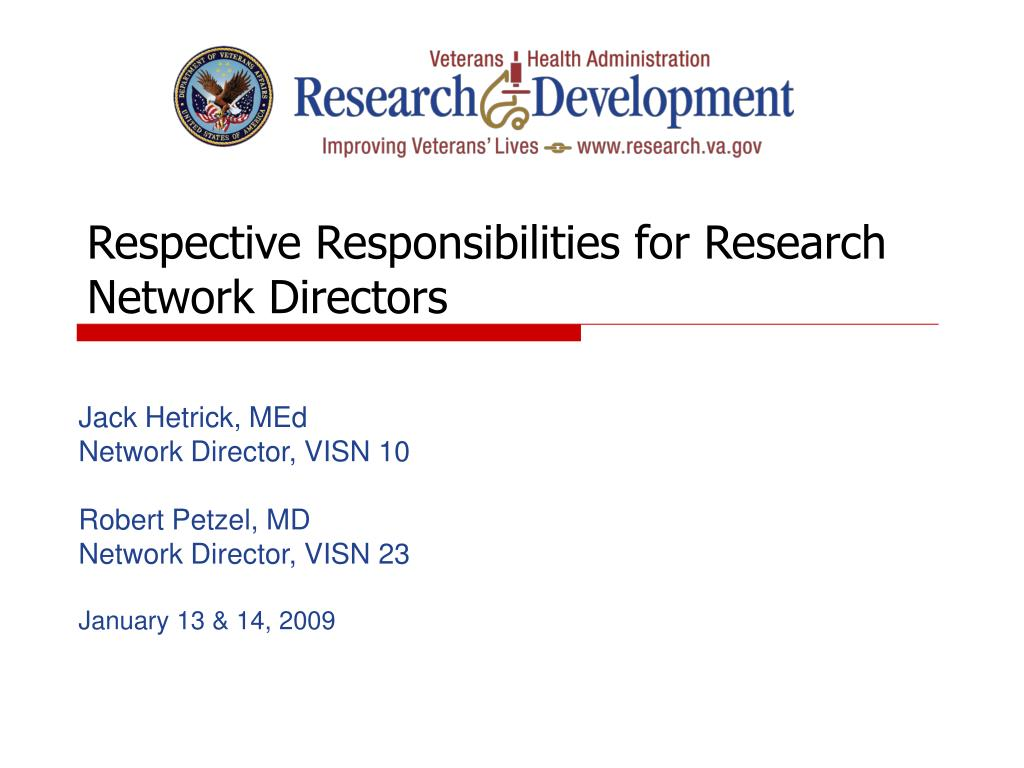 Respective Responsibilities for Research