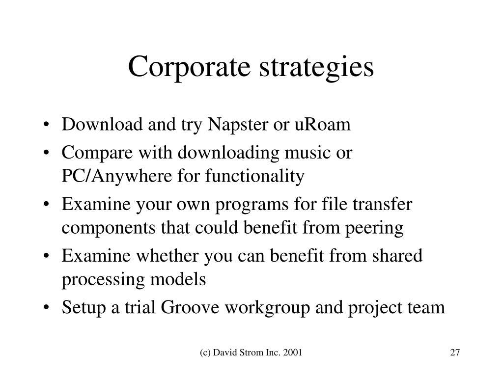 Corporate strategies