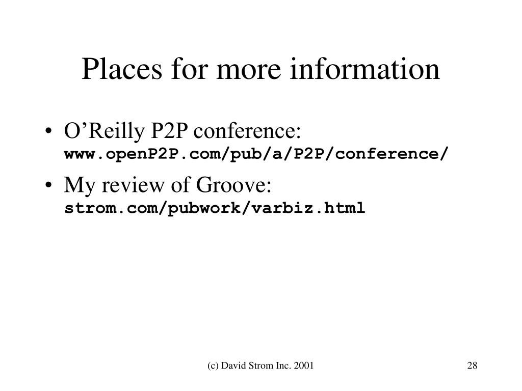 Places for more information