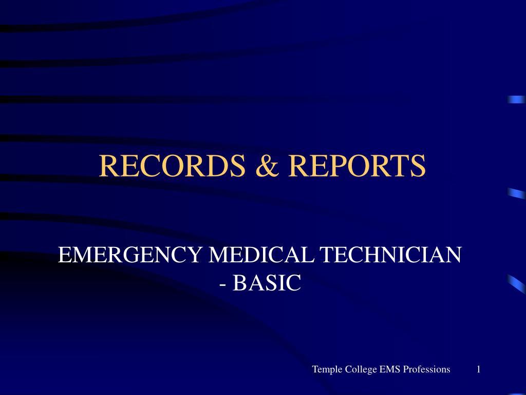 records reports l.