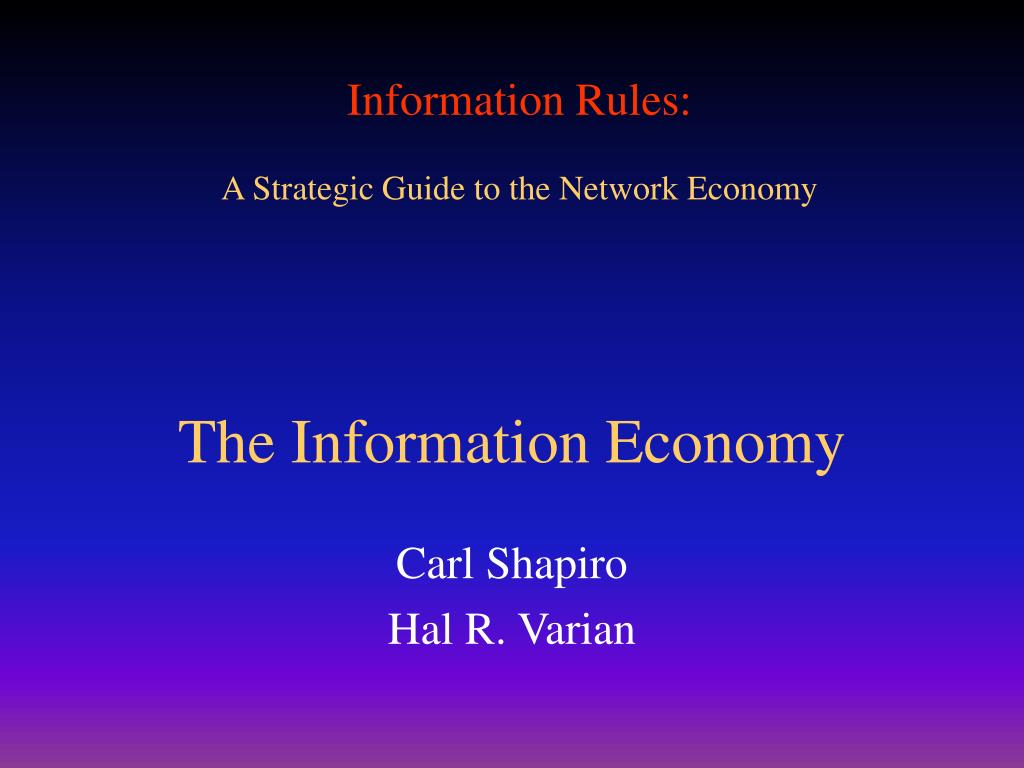 the information economy l.