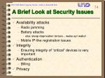 a brief look at security issues