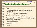 agile application aware