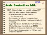 aside bluetooth vs irda