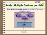 aside multiple devices per jvm