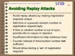 avoiding replay attacks