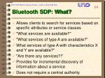 bluetooth sdp what