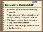 bluetooth vs bluetooth sdp