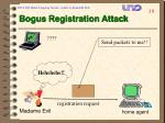 bogus registration attack