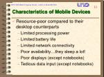 characteristics of mobile devices
