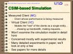 csim based simulation