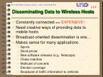 disseminating data to wireless hosts
