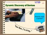 dynamic discovery of devices