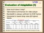 evaluation of adaptation 1