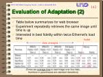 evaluation of adaptation 2