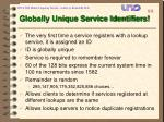 globally unique service identifiers
