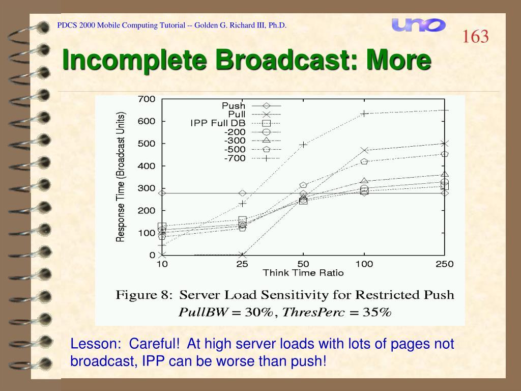 PDCS 2000 Mobile Computing Tutorial -- Golden G. Richard III, Ph.D.