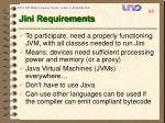 jini requirements