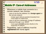 mobile ip care of addresses