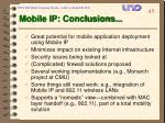 mobile ip conclusions