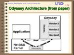 odyssey architecture from paper
