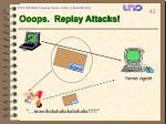 ooops replay attacks