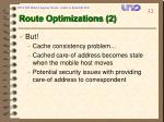 route optimizations 2