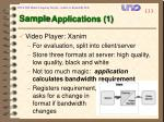 sample applications 1