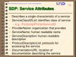 sdp service attributes