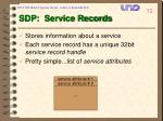 sdp service records