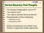 service discovery final thoughts