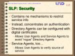 slp security