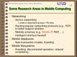 some research areas in mobile computing