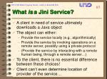 what is a jini service