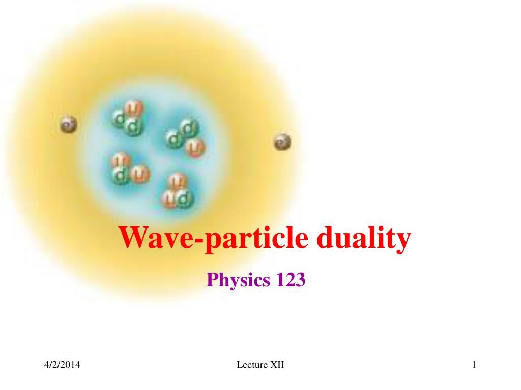 PPT - Wave-particle duality PowerPoint Presentation - ID:750554