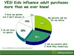 yes kids influence adult purchases more than we ever knew