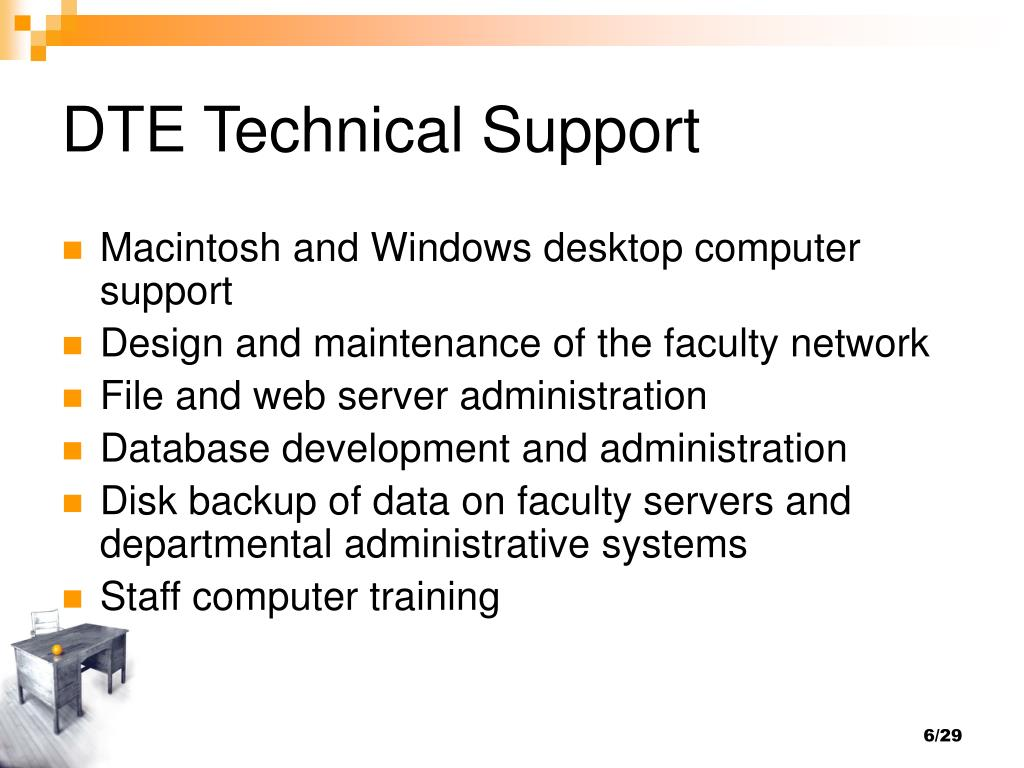 DTE Technical Support