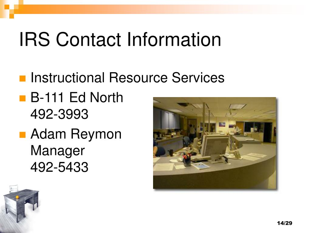 IRS Contact Information