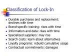 classification of lock in