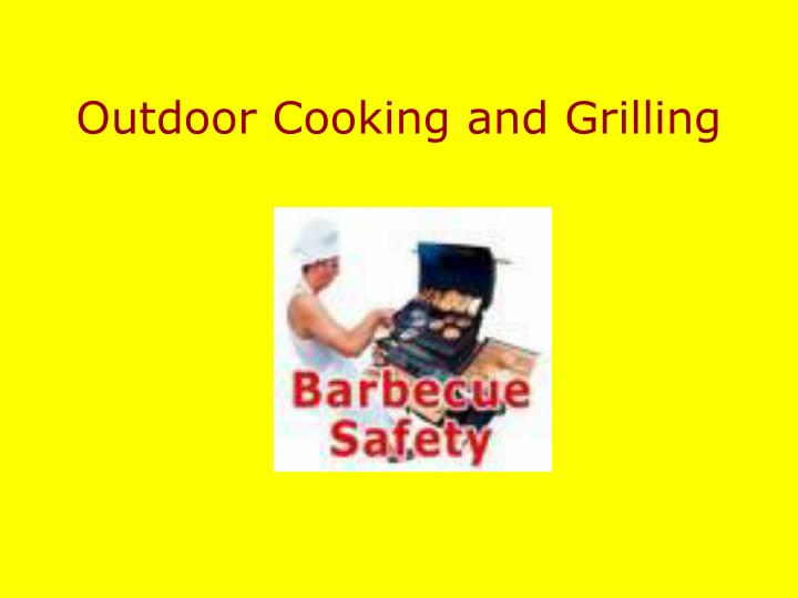 outdoor cooking and grilling n.