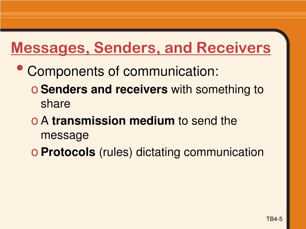 Messages, Senders, and Receivers