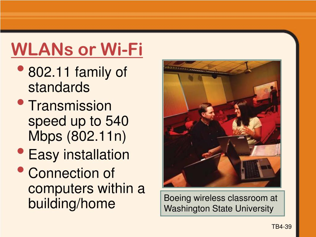 WLANs or Wi-Fi